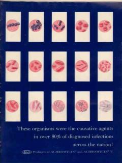 lederle laboratories 1959 achromycin v infections medical vintage ad