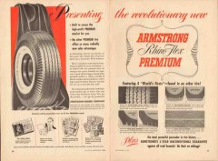 armstrong rubber company 1952 rhino-flex premium tire vintage ad