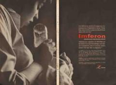 lakeside laboratories 1959 imferon anemia pregnancy medical vintage ad