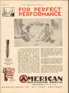 American Iron Machine Works 1931 Vintage Ad Release Circulate Spear
