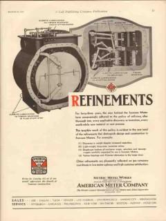 American Meter Company 1931 Vintage Ad Oil Refinement Ironcase Meters