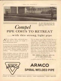 American Rolling Mill Company 1931 Vintage Ad Light Pipe Cost Retreat