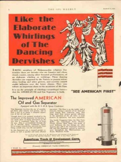 American Tank Equipment Co 1931 Vintage Ad Dancing Dervishes Oil Gas
