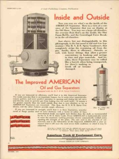 American Tank Equipment Co 1931 Vintage Ad Inside Outside Oil Gas