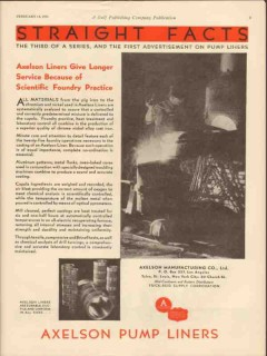 Axelson Mfg Company 1931 Vintage Ad Oil Scientific Foundry Practice
