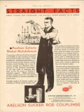 Axelson Mfg Company 1931 Vintage Ad Oil Gas Nickel Molybdenum