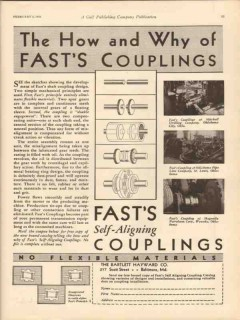Bartlett Hayward Company 1931 Vintage Ad Oil How Why Fasts Couplings