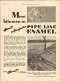 Barrett Company 1931 Vintage Ad Oil Pipe Line Enamel Bitumen Pipeline