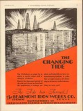 Beaumont Iron Works Company 1931 Vintage Ad Oil Industry Changing Tide