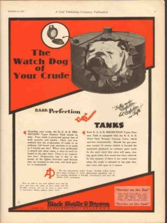 Black Sivalls Bryson Inc 1931 Vintage Ad Oil Watch Dog Your Crude