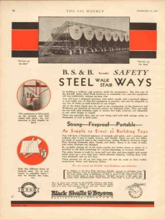 Black Sivalls Bryson Inc 1931 Vintage Ad Oil Steel Walkways Stairways