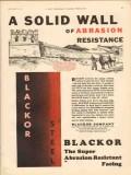 Blackor Company 1931 Vintage Ad Solid Wall Abrasion Resistant Facing