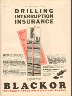 Blackor Company 1931 Vintage Ad Oil Drilling Interruption Insurance