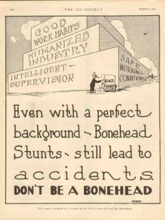 Bonehead Stunts 1931 Vintage Ad Even With Perfect Background Accidents