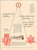 Brewster Company 1931 Vintage Ad Oil Straight Hole Drilling Bulls Eye