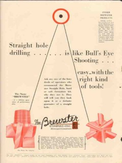 Brewster Company 1931 Vintage Ad Oil Straight Hole Drilling Bulls Eye