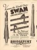 Bridgeport Machine Company 1931 Vintage Ad Oil Field Swan Underreamer