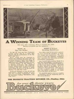 Buckeye Traction Ditcher Company 1931 Vintage Ad Henry L Lemons Inc