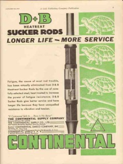 Continental Supply Company 1931 Vintage Ad Oil DB Heatreat Sucker Rods