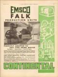 Continental Supply Company 1931 Vintage Ad EMSCO Falk Production Unit