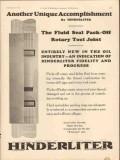 Hinderliter Tool Company 1931 Vintage Ad Unique Fluid Seal Pack-Off