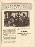 Hopper Machine Works Inc 1931 Vintage Ad Oil Hoist Tubing Bails Drills