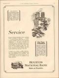 houston national bank 1931 service financial district vintage ad