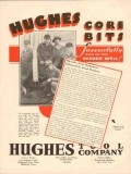 Hughes Tool Company 1931 Vintage Ad Core Bits Successfully Record Well