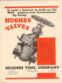 Hughes Tool Company 1931 Vintage Ad Oil Well Valves Drill Cost Fortune