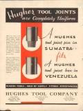 Hughes Tool Company 1931 Vintage Ad Oil Field Joints Pin Box Uniform
