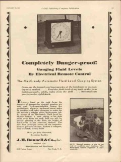 J H Bunnell Company 1931 Vintage Ad Completely Danger Proof Guaging