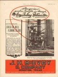 J H McEvoy Company 1931 Vintage Ad Oil Field Tubing Retractor Longview