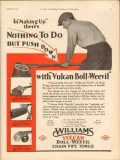 J H Williams Company 1931 Vintage Ad Oil Vulcan Boll-Weevil Making Up