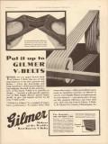 L H Gilmer Company 1931 Vintage Ad Oil Field V-Belts Put Up