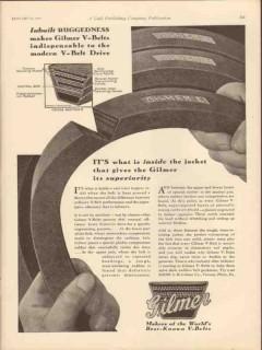 L H Gilmer Company 1931 Vintage Ad Oil Field V-Belt Ruggedness Drive