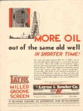 Layne Bowler Company 1931 Vintage Ad Oil Field Shorter Time More