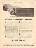 Lincoln Electric Company 1931 Vintage Ad Welds Non-Corrosive Oil Field