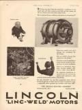 lincoln electric company 1931 gas oilfield linc-weld motors vintage ad
