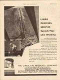Linde Air Products Company 1931 Vintage Ad Oil Welding Process Service