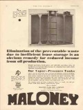 Maloney Tank Mfg Company 1931 Vintage Ad Oil Storage Waste Elimination