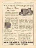 international harvester 1931 mccormick-deering service vintage ad