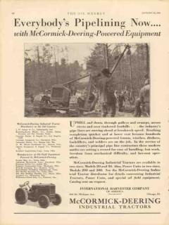 international harvester 1931 mccormick-deering pipeline vintage ad