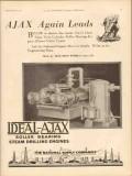 Ajax Iron Works 1931 Vintage Ad Engine Twin Cylinder Roller Bearing