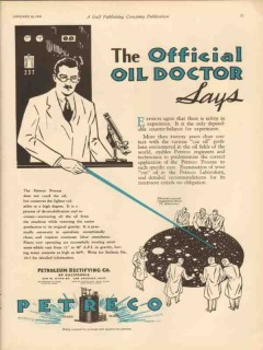 Petroleum Rectifying Company 1931 Vintage Ad Oil Safety In Experience