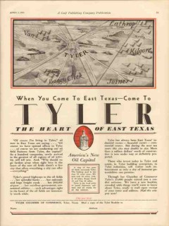 Tyler Texas 1931 Vintage Ad New Oil Capital When Come To Heart East TX