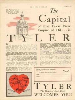 Tyler Texas 1931 Vintage Ad Oil Petroleum Capital East TX New Empire