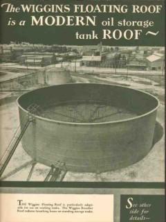 Chicago Bridge Iron Works 1931 Vintage Ad Oil Storage Tanks Modern