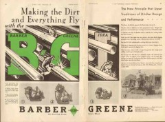 Barber-Greene Company 1931 Vintage Ad Ditcher Design Performance Dirt