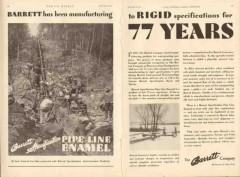 Barrett Company 1931 Vintage Ad Oil Pipe Line Enamel Manufacture Rigid