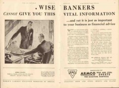 American Rolling Mill Company 1931 Vintage Ad Oil ARMCO Wise Bankers